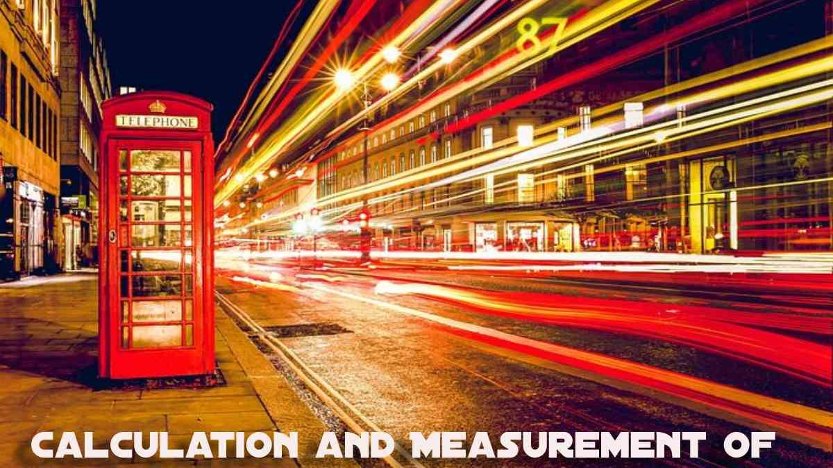 Calculation and measurement of the volume of telephone traffic