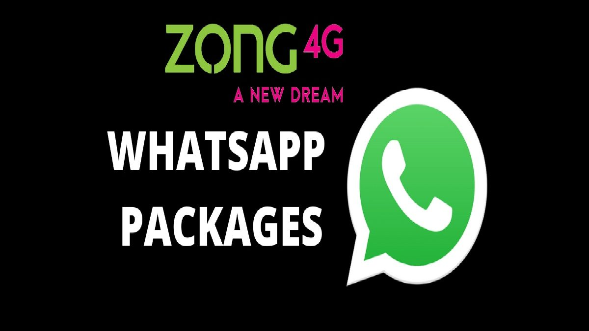 Zong WhatsApp Packages Monthly